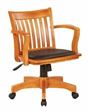 Padded Seat Wooden Bankers Desk Chair For Home Office Computer Height Adjustable
