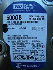 500 gb de Western Digital WD 5000 aaks - 00e4a0/hbnnhtjcbb/2060-701640-002 Rev a