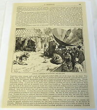 1883 magazine engraving w/ article ~ SOLAR POWERED PRINTING PRESS, Newspaper