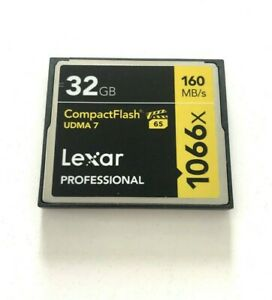 Pre- Owned Lexar Professional CF cards UDMA 7 160 mb/s 1066x