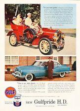1953 Buick Roadmaster Gulf Oil Original Advertisement Print Art Car Ad J929