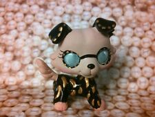Collie Dog Steam Punk Goggles * OOAK Hand Painted Custom Littlest Pet Shop