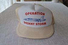 OPERATION DESERT STORM FIGHTER JET TRUCKER HAT BASEBALL CAP MESH SNAPBACK LARGE