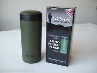 New Webtex OLIVE GREEN Insulated Thermal Ammo Pouch Flask