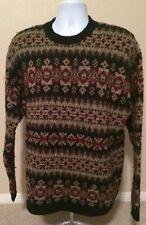 Abercrombie & Fitch 100% Wool Fair Isle Rag Sweater Crewneck Large L