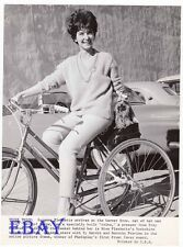 Suzanne Pleshette on bike w/dog Wall Of Noise