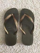 16a81cc6c0dbe4 Top Havaianas women s sandals flip flops w  Swarovski crystals dark green  (6)