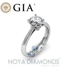 0.55 CARAT G VS2 GIA CERTIFIED DIAMOND SOLITAIRE ENGAGEMENT RING SET IN 18K GOLD