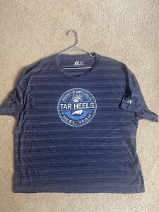 North Carolina Tar Heels HEEL YEA UNC Russell Athletic  T-Shirt Size 3XL