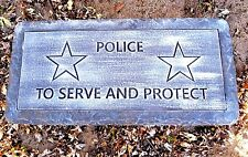 "Concrete bench top mold Police 3/16th"" plastic"