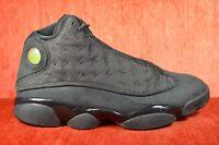 CLEAN Nike Air Jordan Retro XIII Black Cat Size 9.5 414571 011 3M Reflective