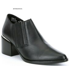 9056dba3661 Steve Madden Women Korral Ankle BOOTIES Leather Slip on Western BOOTS Black  8 M