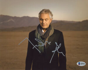 ANDREA BOCELLI SIGNED AUTOGRAPHED 8x10 PHOTO OPERA TENOR LEGEND BECKETT BAS