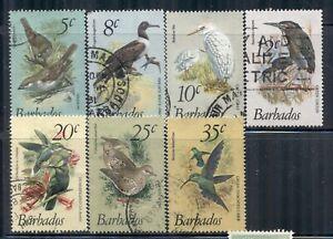 BARBADOS 497-504 SG624-31 Used 1979-81 Birds Defin short set of 7/18 Cat$7