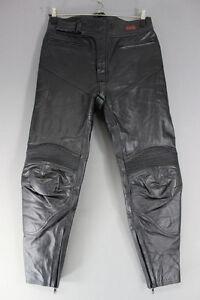 BLACK DYNAMIC LEATHERS COWHIDE BIKER TROUSERS - WAIST 32 INCH/INSIDE LEG 29 INCH