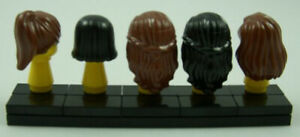 Lego Minifig Hair Lot of 5 Female Girl Minifigure Parts Pieces Wig City Town x5