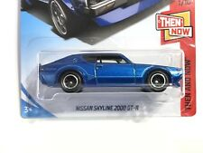 2018 Hot Wheels Nissan Skyline 2000 GT-R Blue - w/Real Riders SUPER CUSTOM