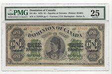 **1878**Dom. of Canada DC-8f-i  $1 Note ;PMG*VF-25*SN# A 737020 Toronto