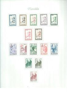 Marokko - ab 1956 - 5 Seiten auf Borek Vordrucken - ungestempelt mit Falz
