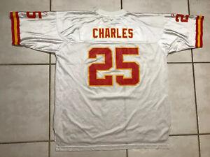 Vintage REEBOK Kansas City Chiefs Jamaal Charles NFL WHITE Jersey Men's 2XL