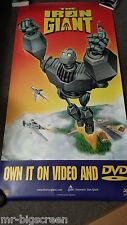 "THE IRON GIANT - ORIGINAL SS DVD POSTER - 33"" X 66"""