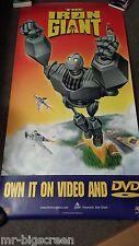 "THE IRON GIANT - ORIGINAL SS DVD POSTER - 33"" X 66"""