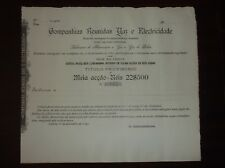 Portugal Title of shares GAZ and Electricity Gathered Companies 1891 RARE#