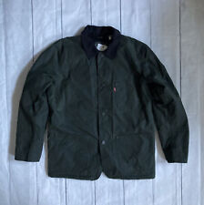 New Levis Engineered Waxed Cotton Chore Sherpa Lined Jacket Vtg Sample NWT Med