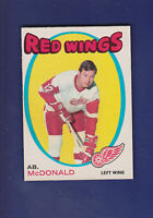 AB. McDonald 1971-72 O-PEE-CHEE Hockey #134 (EX) Detroit Red Wings