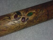 Rare Vintage 1930's or Older Antique Jeweled Dragon Billiard Cue w/ 4 Gems