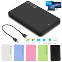 2,5 Zoll USB 3.0 Festplattengehäuse SATA SSD Externer Festplatte Gehäuse für PC