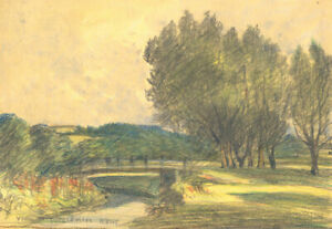 George William Collins (1863-1949) - Crayon, West Farnham, Kent