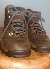 Timberland Ankle Boots Dark Brown White Ledge Waterproof Hiking Boots Ladies 8M