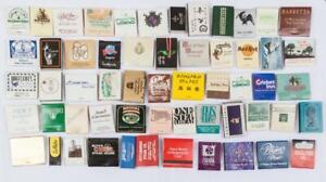 Vintage Lot of 57 Matchbooks Advertisements Restaurants Hotels Resorts etc. g30