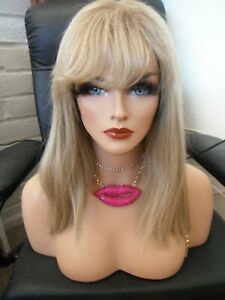 """Rene Of Paris Wig Misha French Design Blonde 613/27 17"""" Long Rooted Ombre"""