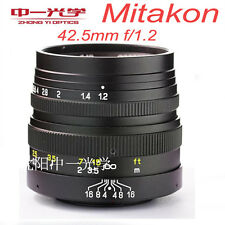 Zhongyi Mitakon 42.5mm f/1.2 for Micro Four Thirds Camera M4/3 MFT GH4 OM-D 49MM