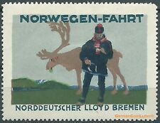 Reklamemarke Norddeutscher Lloyd Bremen, NORWEGEN - FAHRT (#25632)