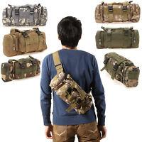Canvas 3P Military Tactical Backpack Waist Bag Hiking Traveling Camping Rucksack