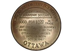 Ottowa Canada Centennial Souvenir Dollar 1967