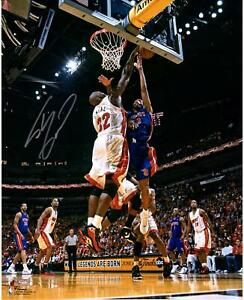 """Shaquille O'Neal Miami Heat Autographed 16"""" x 20"""" Block In White Photograph"""