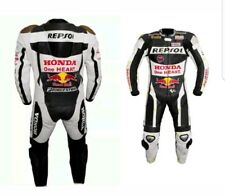*REPSOL* Black & White Motorcycle/Motorbike leather suit-racing suit
