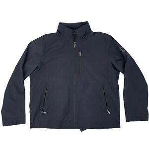 Tech by Tumi Windbreaker Size XL Dark Gray Full Zip Retractable Hoodie Rain Coat