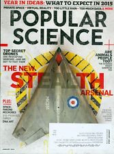 2015 Popular Science Magazine: New Stealth Arsenal/Top Secret Drones/DNA Art