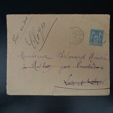 FRANCE TIMBRE TYPE SAGE N°101 SUR LETTRE COVER BFE CAD AIN ABID CONSTANTINE