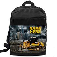 Boys Backpack Digger School Bag Childrens Kids Rucksack Personalised LB005