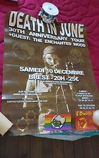 "DEATH IN JUNE RARE BREST 2011 POSTER GIG 60*80CM/24*32"" COIL CURRENT 93"