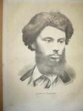 GRANDE LITHOGRAPHIE 1870 CAMILLE PELLETAN