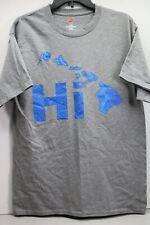 Men's Hanes Hi Hawaii Islands Gray Sz.L T-Shirt