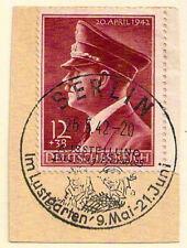 Germany Deutsches Reich 1942 12pf Hitler birthday used BERLIN on neat piece