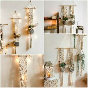 Bohemian Macrame Woven Cotton Handmade Wall Hanging Tapestry Home Art Decor Gift